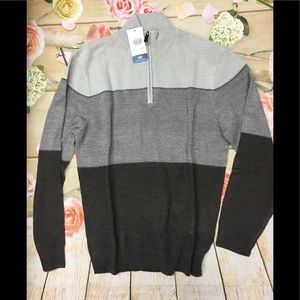 Men's Dockers Colorblock Quarter Zip Sweater NWT